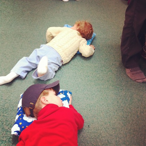 Lullaby time at music class