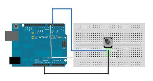 Sensor Workshop at ITP :: Reports / Rotary Encoder Using Paul