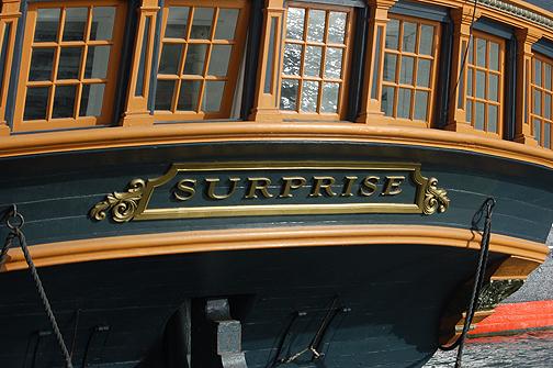 stern detail Surprise