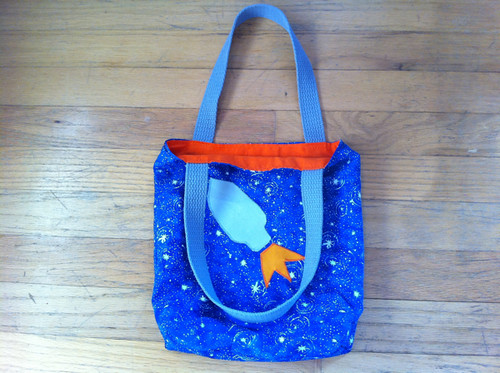 Rowan's rocket ship tote