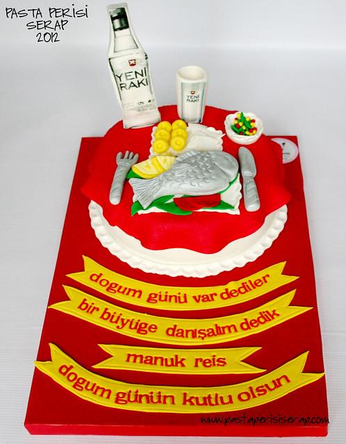 Rakı masası pastası