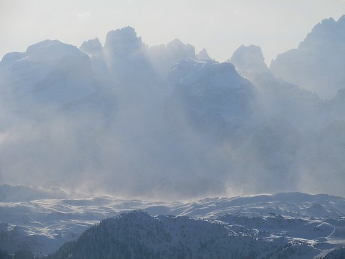 Extreme Weather: -22°C and strong Tramontana wind on Brenta Dolomites (Here, from Monte Vigo)