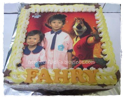 Edible Paddle Pop for Fahry by DiFa Cakes