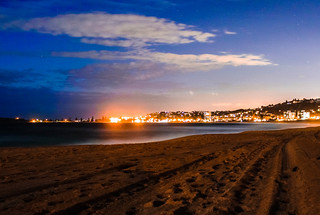 Image of Collaroy Beach near Narrabeen. beach night lights australia ni narrabeen