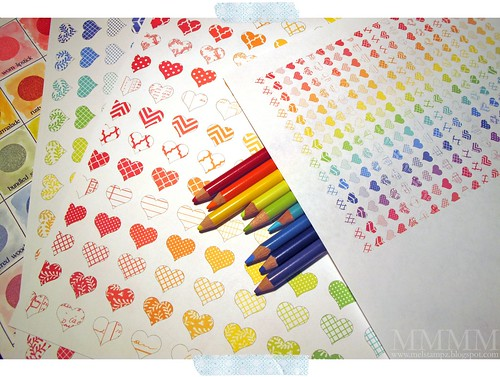 heart paper freebie mel stampz