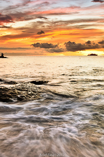 Of Wave, Angler And Passing Ship by Arief Rasa