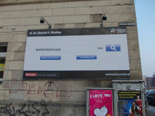 Example of google search in Wroclaw