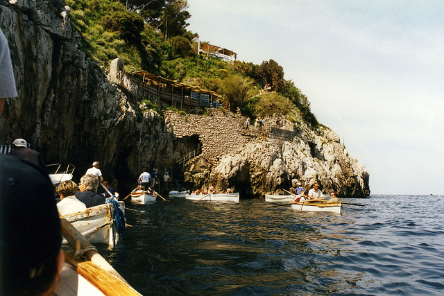 Outside the Blue Grotto