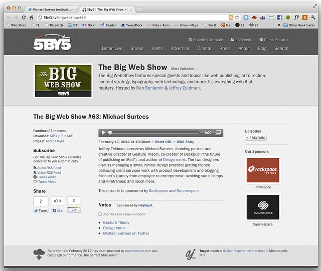 The Big Web Show #63: Michael Surtees