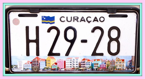 Caribbean Numberplate from Curacao by Ginas Pics