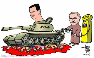 Russia's Putin is Fulling Assad's Tanks and Violence