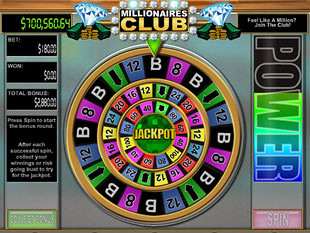 Millionaires Club 2 Slots Bonus Game
