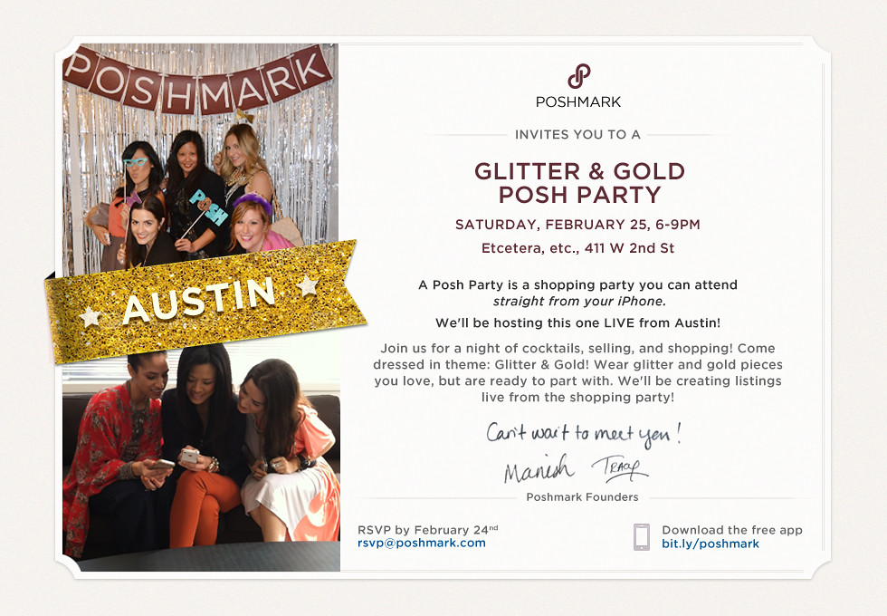 Austin Posh Party Invite