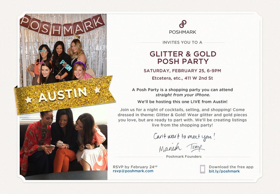 Austin Posh Party Invite