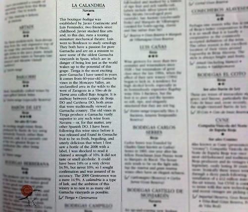 La Calandria. Pura Garnacha para la posteridad en la Sotheby's Wine Encyclopedia2