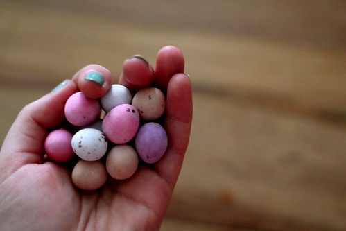 Sunday: scant mini eggs