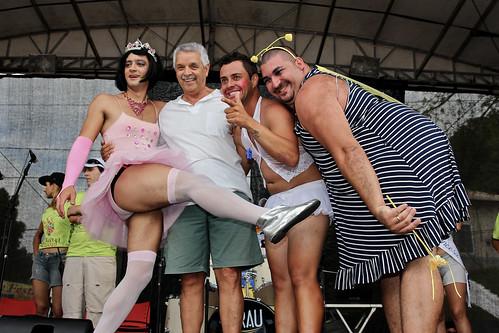 Os vencedores da bicha mais bonita com o Secretário de turismo by kassá
