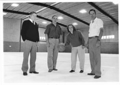 Sport & Community Centre.  Bob Walter (Town Manager Town of Gawler), Gill Harnett (Mayor), centre manager Kelly Kulinski, & Humphrey George (Councillor)