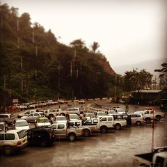 parking in the rain