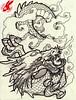 japanese dragon tattoo design by jackie rabbit