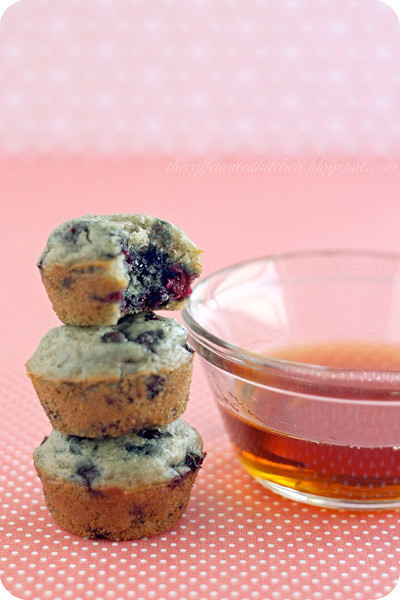 Blueberry Mini Maple Pancake Muffins