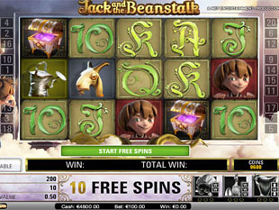 Jack and the Beanstalk bonus game