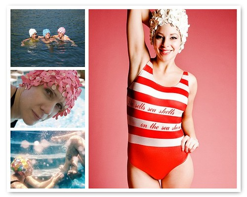 Things I Love Thursdays: Vintage Swim Caps by DiPics
