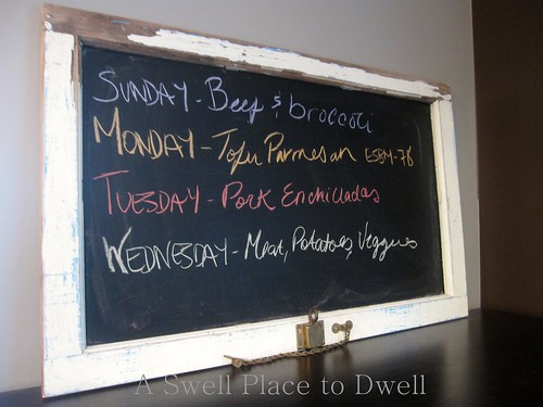 Meal Planning Chalk Board