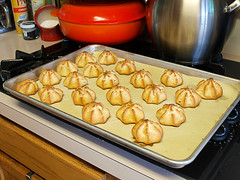Chocolate Glazed Coconut Cream Puffs