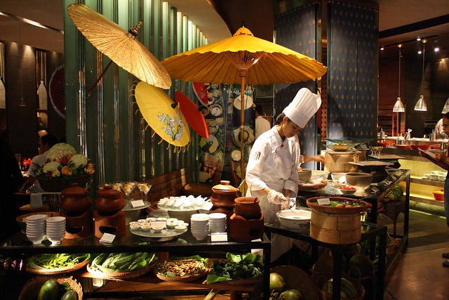 Thai buffet at Mandarin Oriental