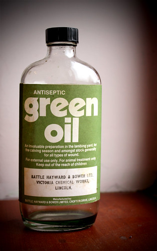Green oil by Helen in Wales