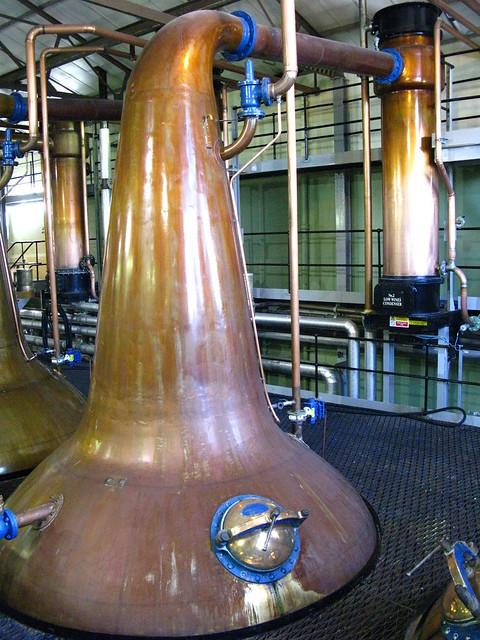 Cardhu distillery - spirit still with condenser