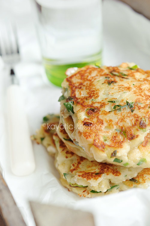 Feta, Scallion & Potato Cakes