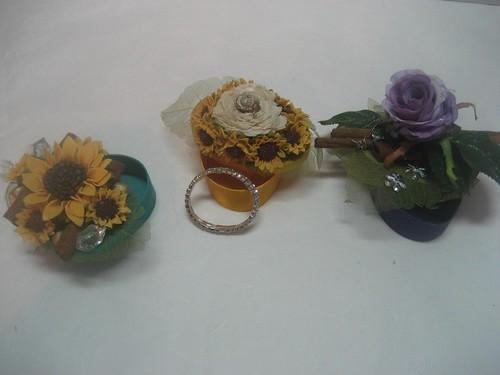 Arte Floral - caixas de madeira com aplicações florais