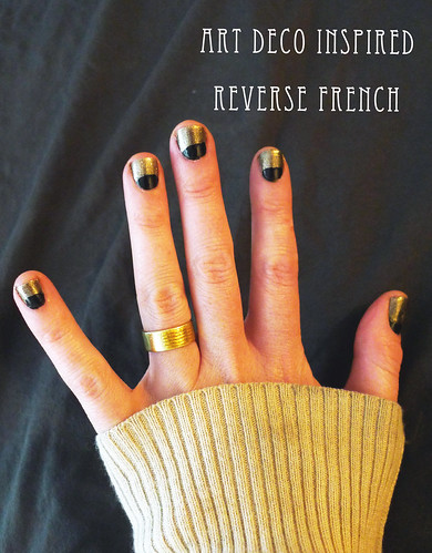 art deco inspired reverse french