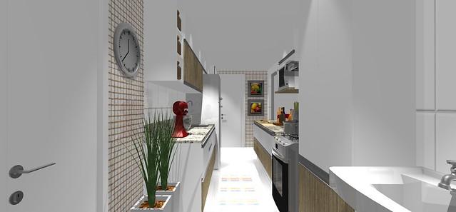 decoracao cozinha e area de servico integradas:Uma cozinha integrada com a sala – 5