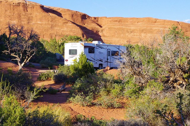 Coachmen Class C Motorhome, Devils Garden Campground, Arches National Park, September 20, 2011