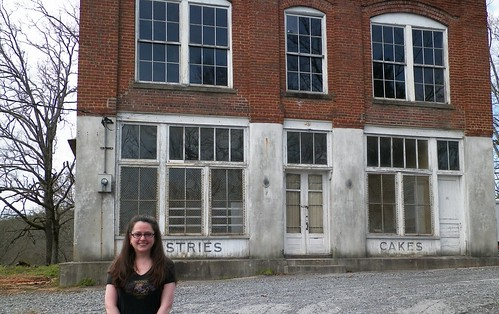 Me in front of Mellark's Bakery