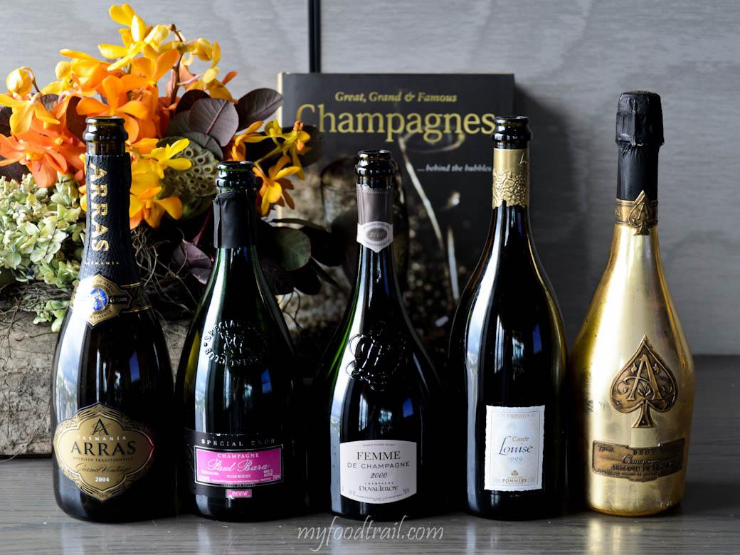 CJ Vue De Monde Lunch - Champagnes we tried