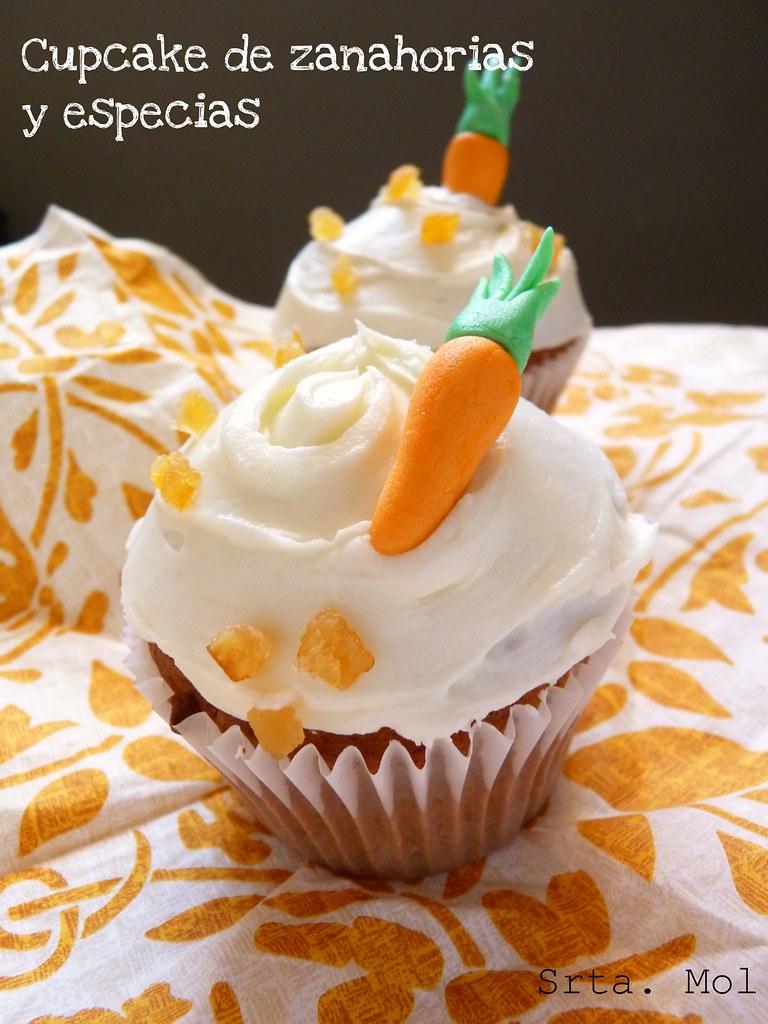 Cupcake zanahorias y especies