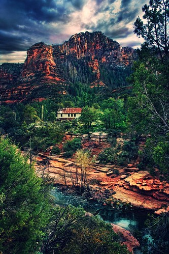 red arizona mountains sedona redrock sliderock rockcreek abigfave