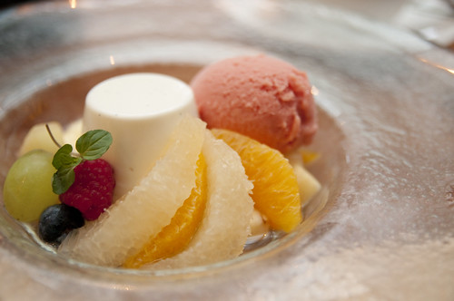 Macedonia of Fruit, Panna Cotta, Seasonal Sherbet, Italian Cafe Fiorentina, Grand Hyatt Tokyo, Roppongi