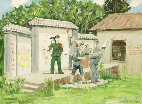 段玉海,《文革遗梦》,布面油画,73x100cm,2011年