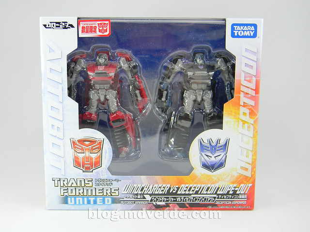 Transformers Windcharger vs Wipe-out Scout- United - caja