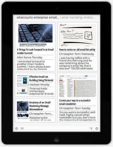 Google Currents fits content to this iPad screen.