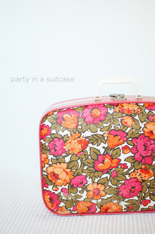 party in a suitcase