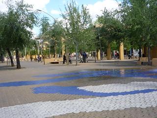Alternatives Leben auf der Alameda de hercules in Sevilla