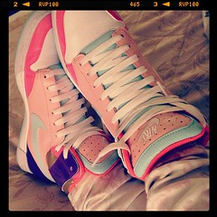 My new candy floss Nikes <3