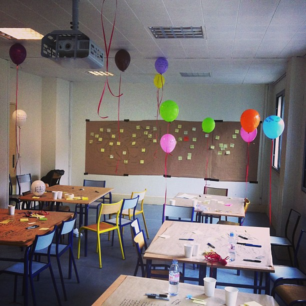 Our session room in designing gamification looks like a birthday party exploded there. Brilliant!