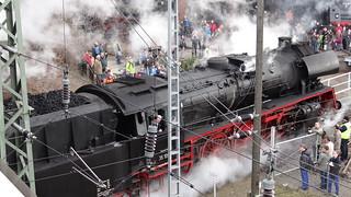 Dampflok der Eisenbahn nach der General Railway Station 0673